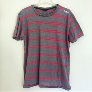 Rusty Striped Red and Gray T-Shirt